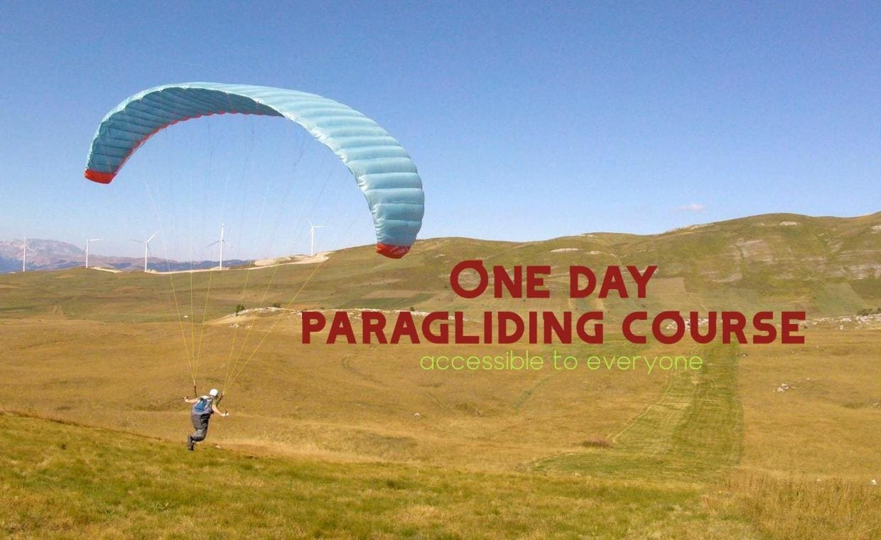 One day paragliding course