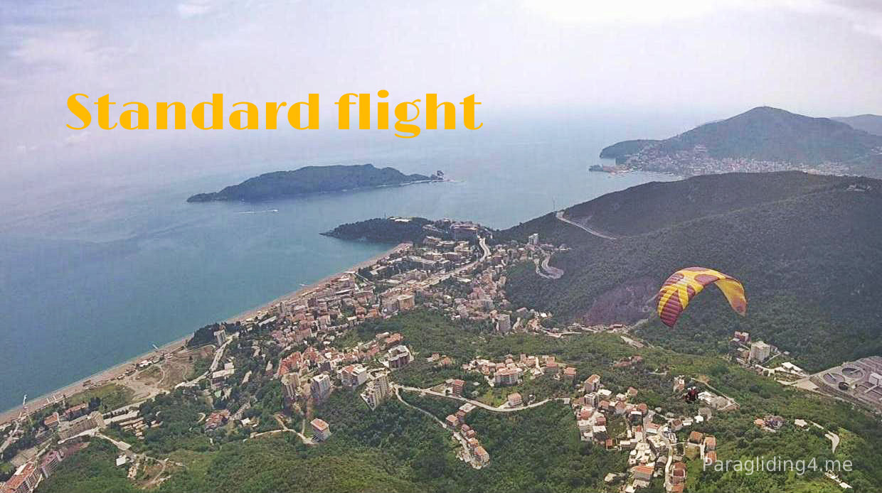 Bookings tandem paragliding in Montenegro