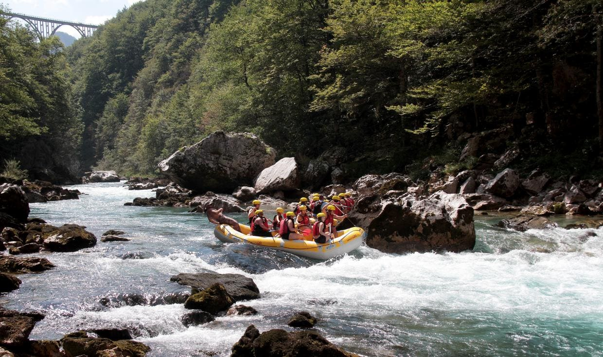 Rafting on Tara River in Montenegro