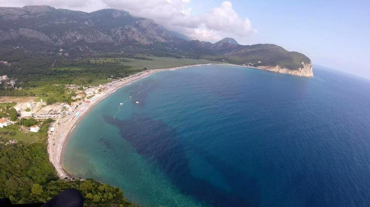 summer paragliding camp buljarica bay